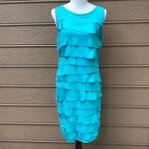 Vince Camuto Sleeveless Tiered Light Blue Dress M